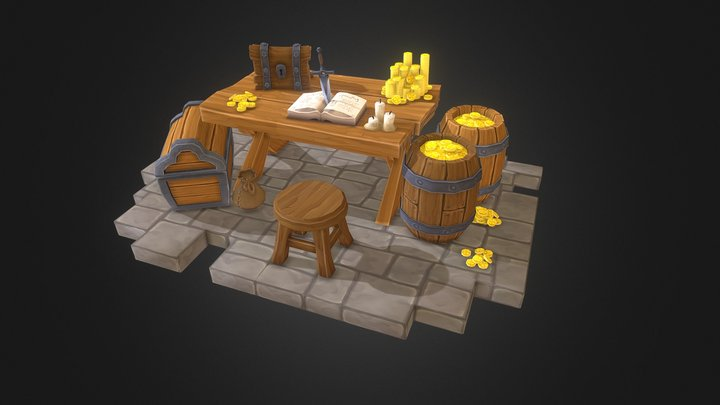 Treasure Table 3D Model
