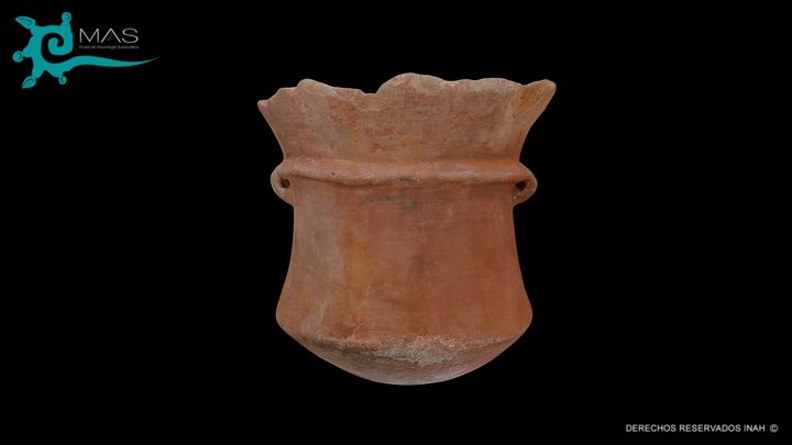 Vaso bícromo compuesto B35/137, 153. 3D Model