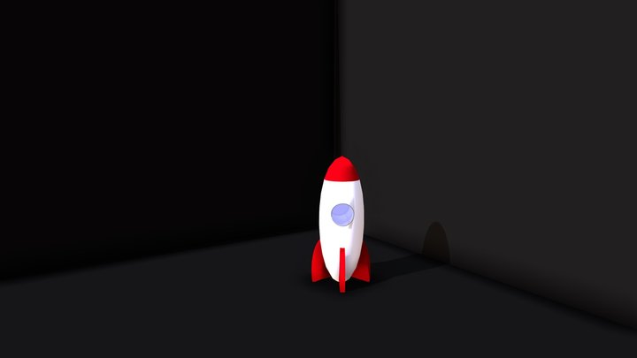 Cool Rocket Toy 3D Model
