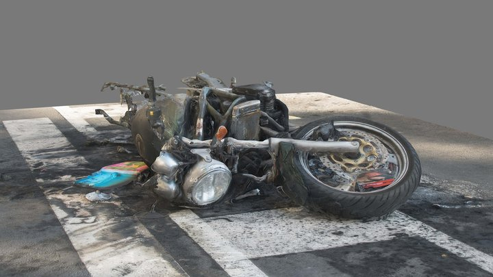 Burnt Suzuki 3D Model
