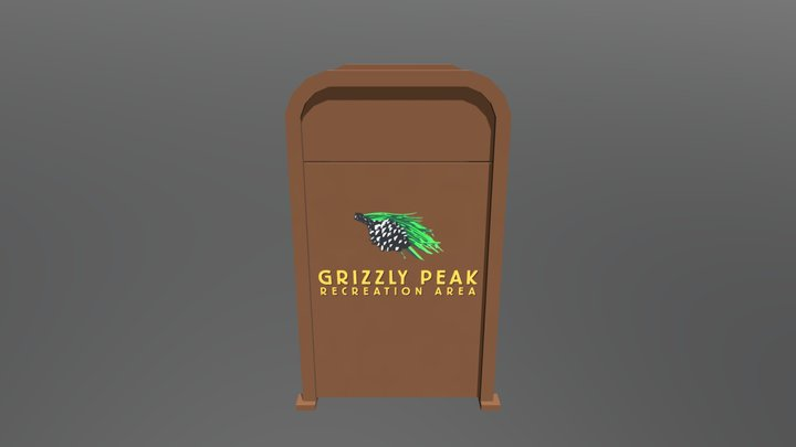 Grizzly Peak Alternate Trash Can