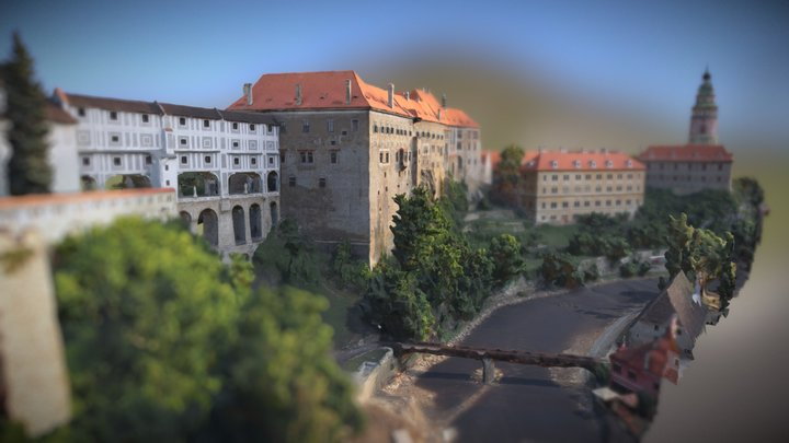 Český Krumlov, Czech Republic 3D Model