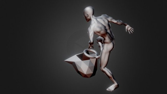 F ReoM Project - Animated Muscle Man 3D Model