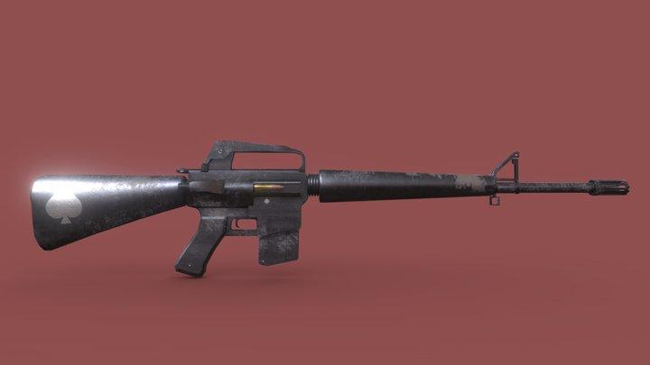 M16-AR (Weathered) 3D Model
