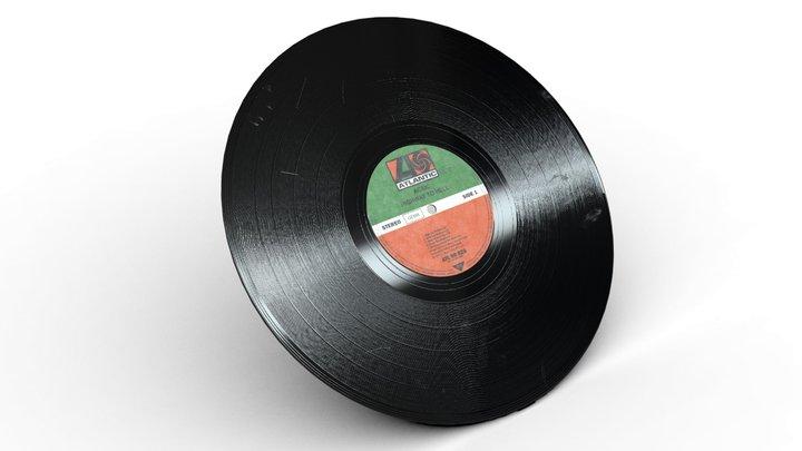"""12"""" Vinyl Record 3D Model"""