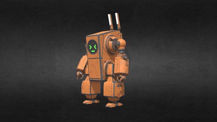 ROBOT Bunny GAMERES Test 3D Model