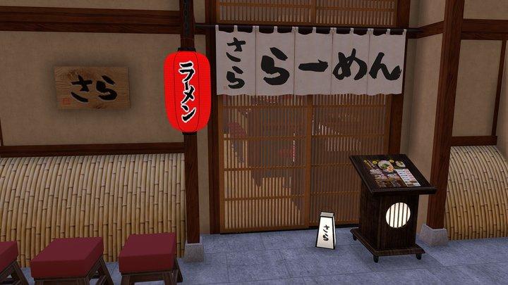 100% Authentic Japanese Ramen shop 3D Model