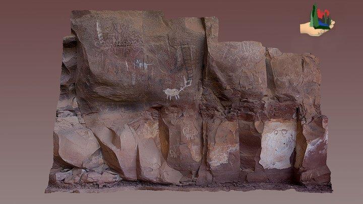 FS0399 Palatki Grotto Panel 16 3D Model