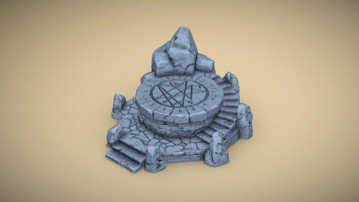 Tabletop Ritual Altar 3D Model
