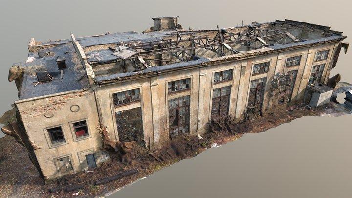 Old Abandoned Soviet Factory 3D Model