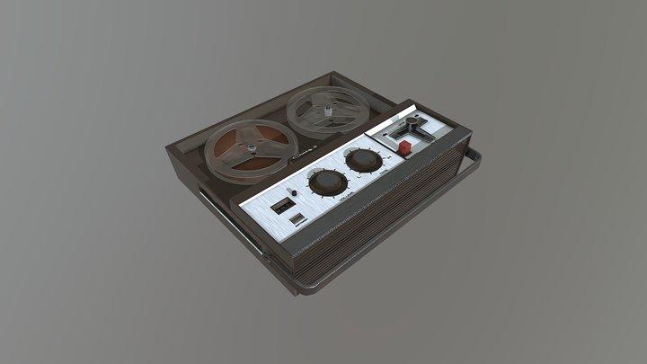 Craig Reel-To-Reel Tape Recorder, Model 2106 3D Model