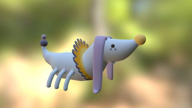 Alien_Dog 3D Model