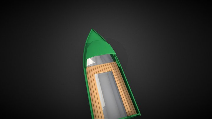 Traditional Asian Boat 3D Model