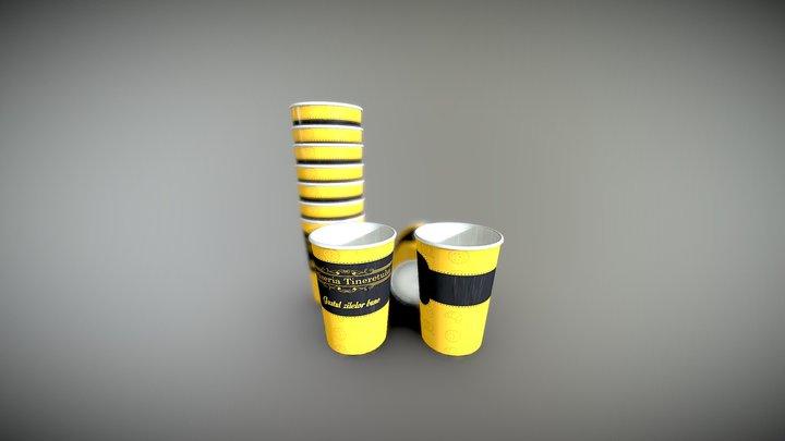 Patiseria Tineretului - Paper Cups 3D Model