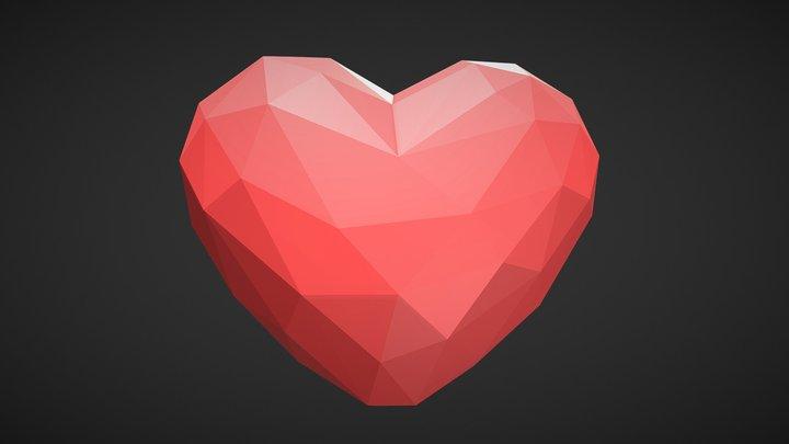 Love Low Poly 3D Model