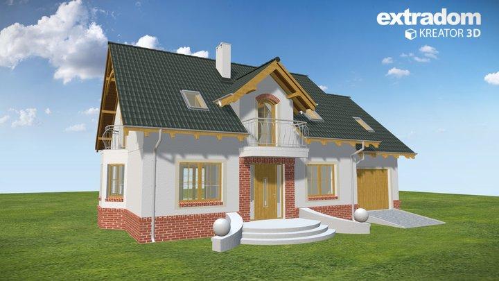 Dom Dla Ciebie 1 w4 z garażem 1-st.[A] (WRF1717) 3D Model