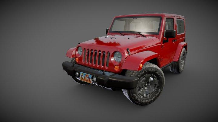 Wrangler Sahara 2010 3D Model