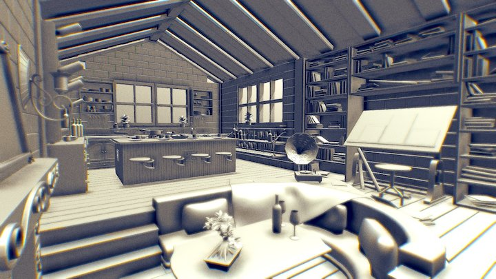 Interior Room by Marius Pörsel 3D Model