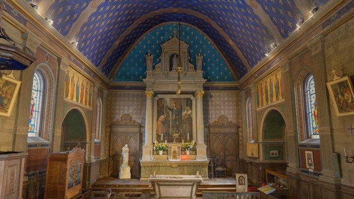 Intérieur église Saint Louis de Chambord 3D Model