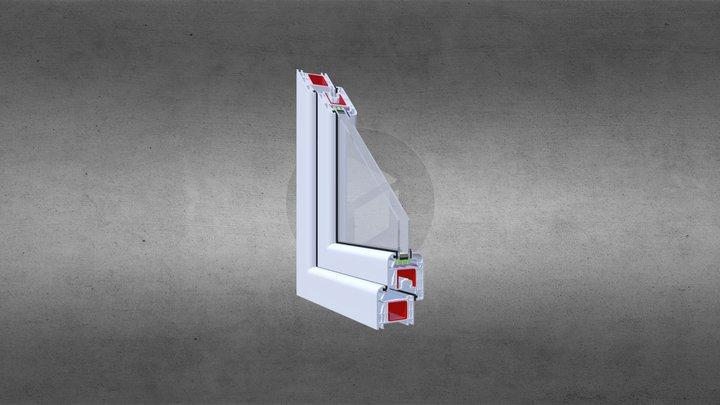 Clasictherm Prosty - Pakiet 24mm - biały 3D Model