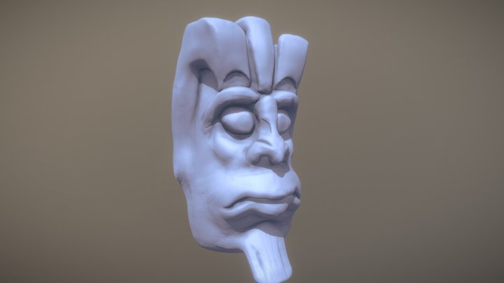 Sculpt January 2018 Day2 - Mask 3D Model