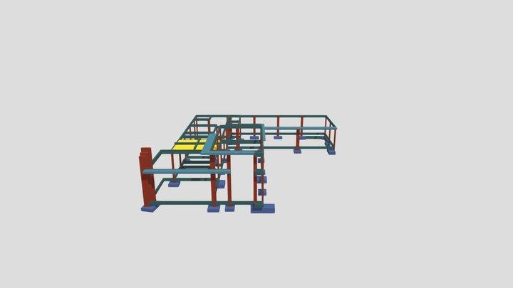 Estrutura 3D - Leila 3D Model