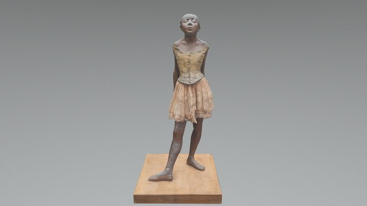 The Little Fourteen-Year-Old Dancer 3D Model