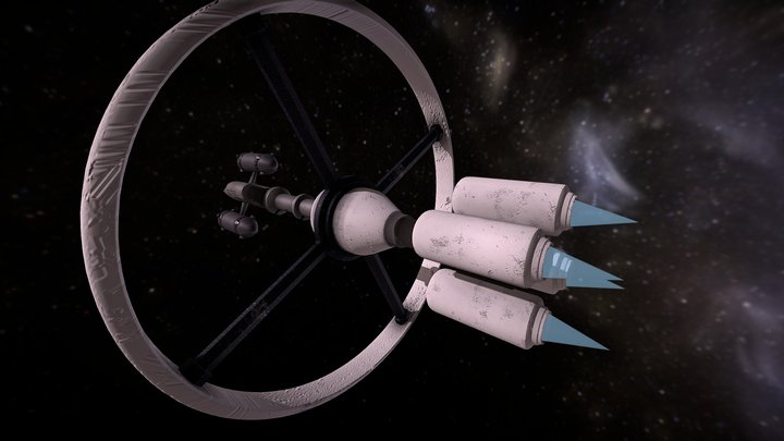 """spaceship"" week of 3D model nr3 3D Model"