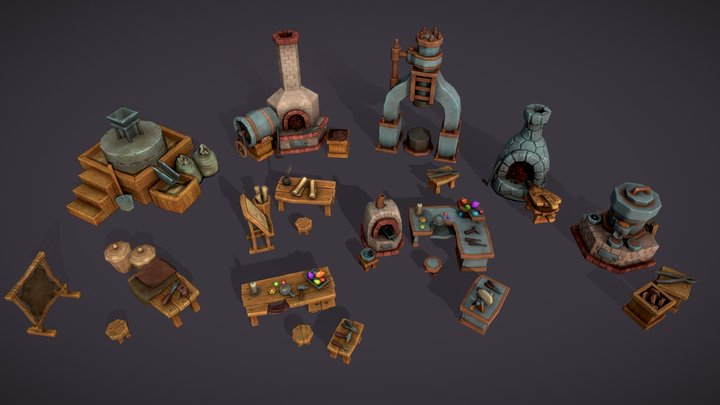 Workshop set 3D Model