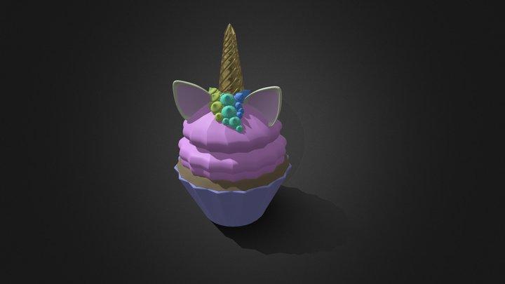 cupcake unicorn 3D Model