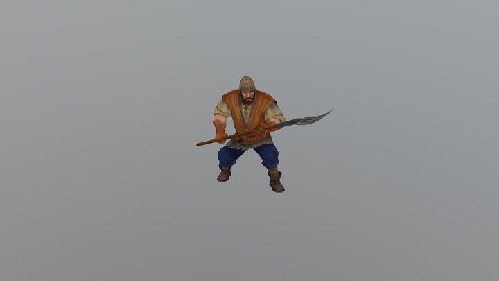 Neutral Peasant 3D Model