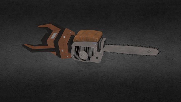 Chainsaw Rocket 3D Model