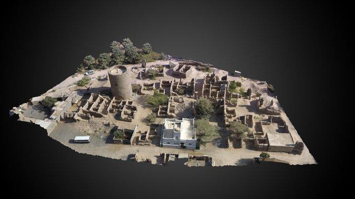 Al Qabil oasis 3D Model