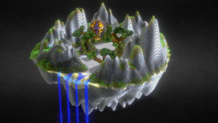 PVP Island 3D Model