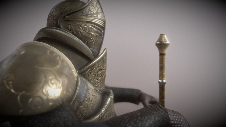 armadura medieval 3D Model