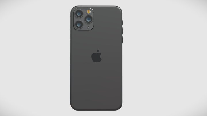 Iphone 11 Pro Max Space Gray 3D Model