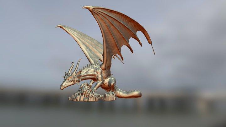 Golden Dragon of Chaos 3D Model