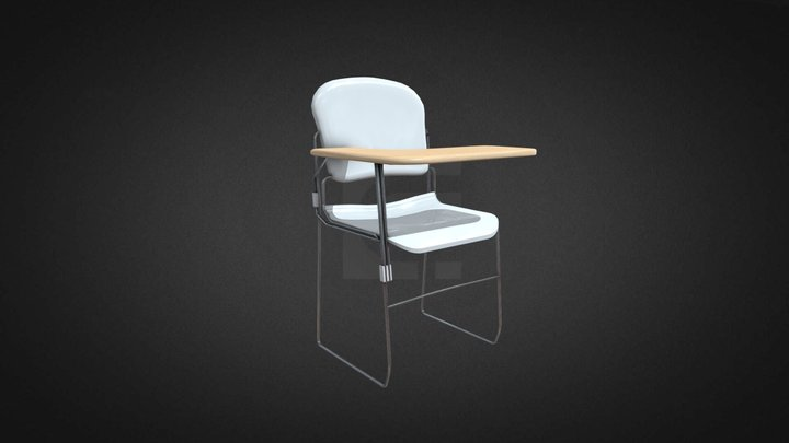 Tablet Chair Hire 3D Model