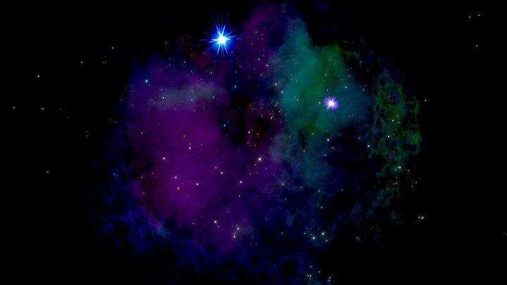 A stellar nursery in the interstellar space 3D Model