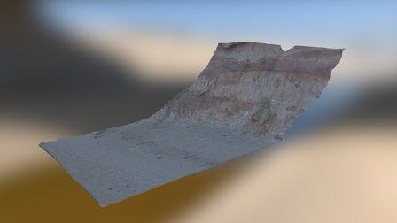 Section of soft sediment cliff, Drigg Cumbria UK 3D Model