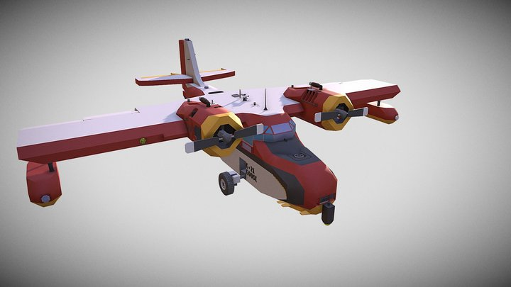 Grumman G-21 Goose - Stormworks 3D Model