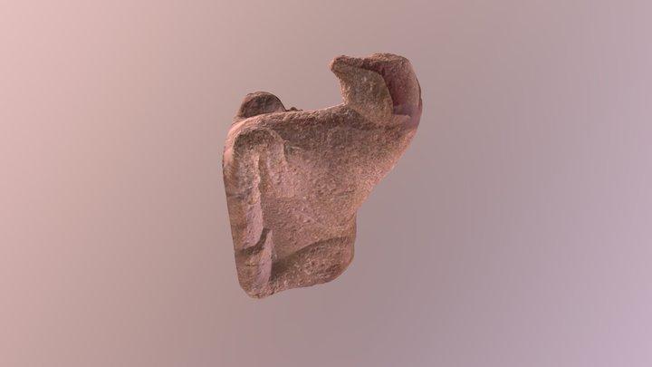 Escultura de toro ibérico sentado 3D Model