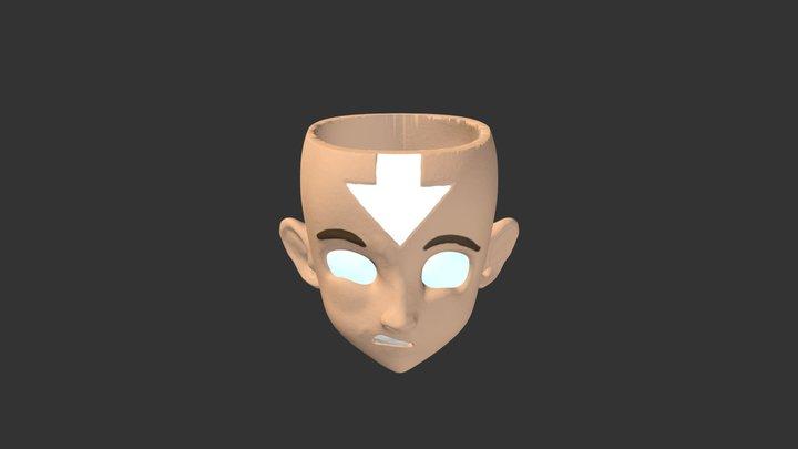 Airbender Aang Mug Avatar State 3D Model