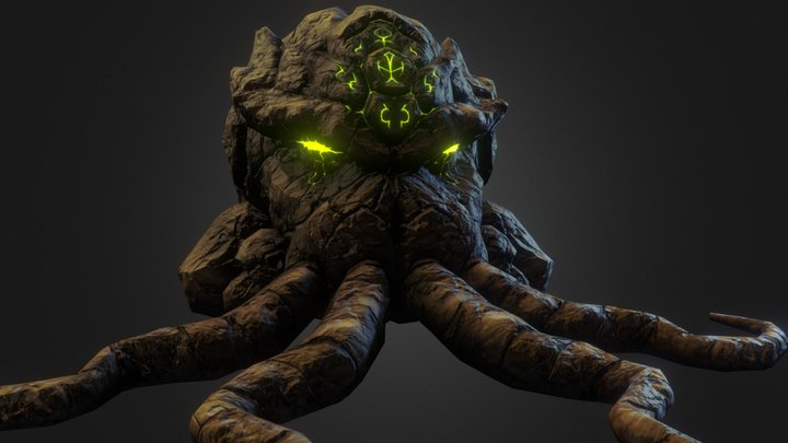 Cthulhu Rock Head 3D Model