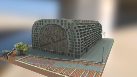 Markthal in Minecraft 3D Model