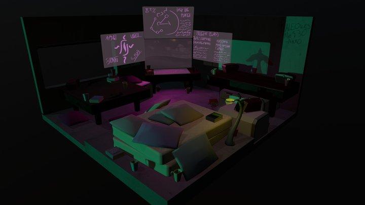 Hacker's Room 3D Model