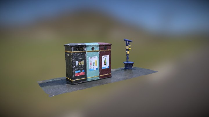 Recycling Point Madeira Drive 3D Model