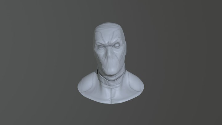 Deadpool bust 3D Model