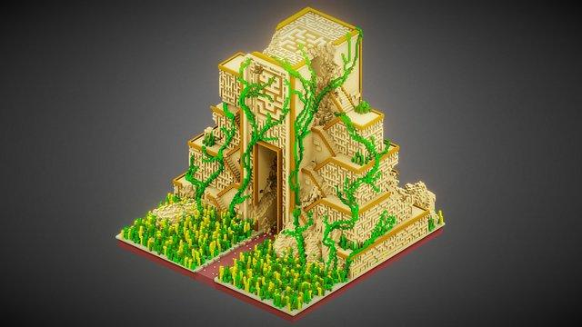 Maya Temple 3D Model