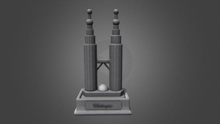 3D Petronus Twin Towers, KL 3D Model